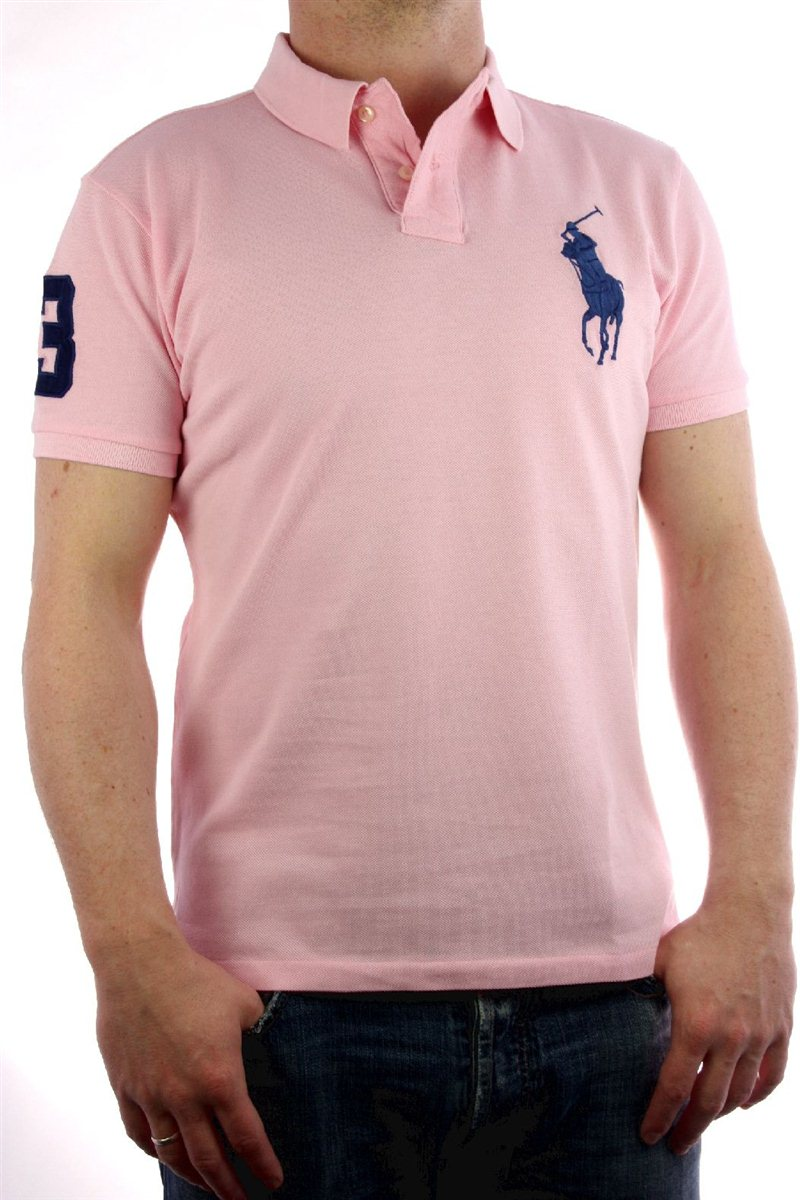 ralph lauren herren polo shirt big pony rosa blau xl neu. Black Bedroom Furniture Sets. Home Design Ideas
