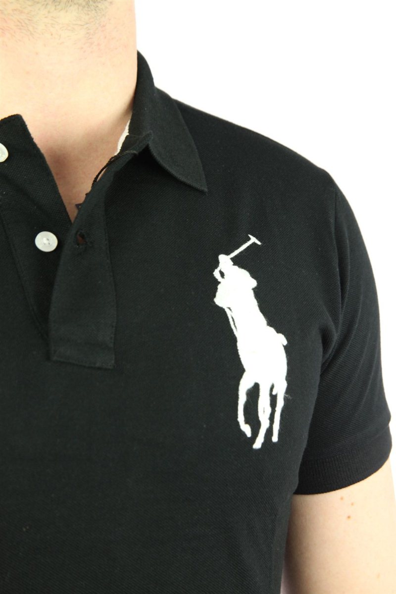 polo by ralph lauren big pony herren polo shirt schwarz. Black Bedroom Furniture Sets. Home Design Ideas