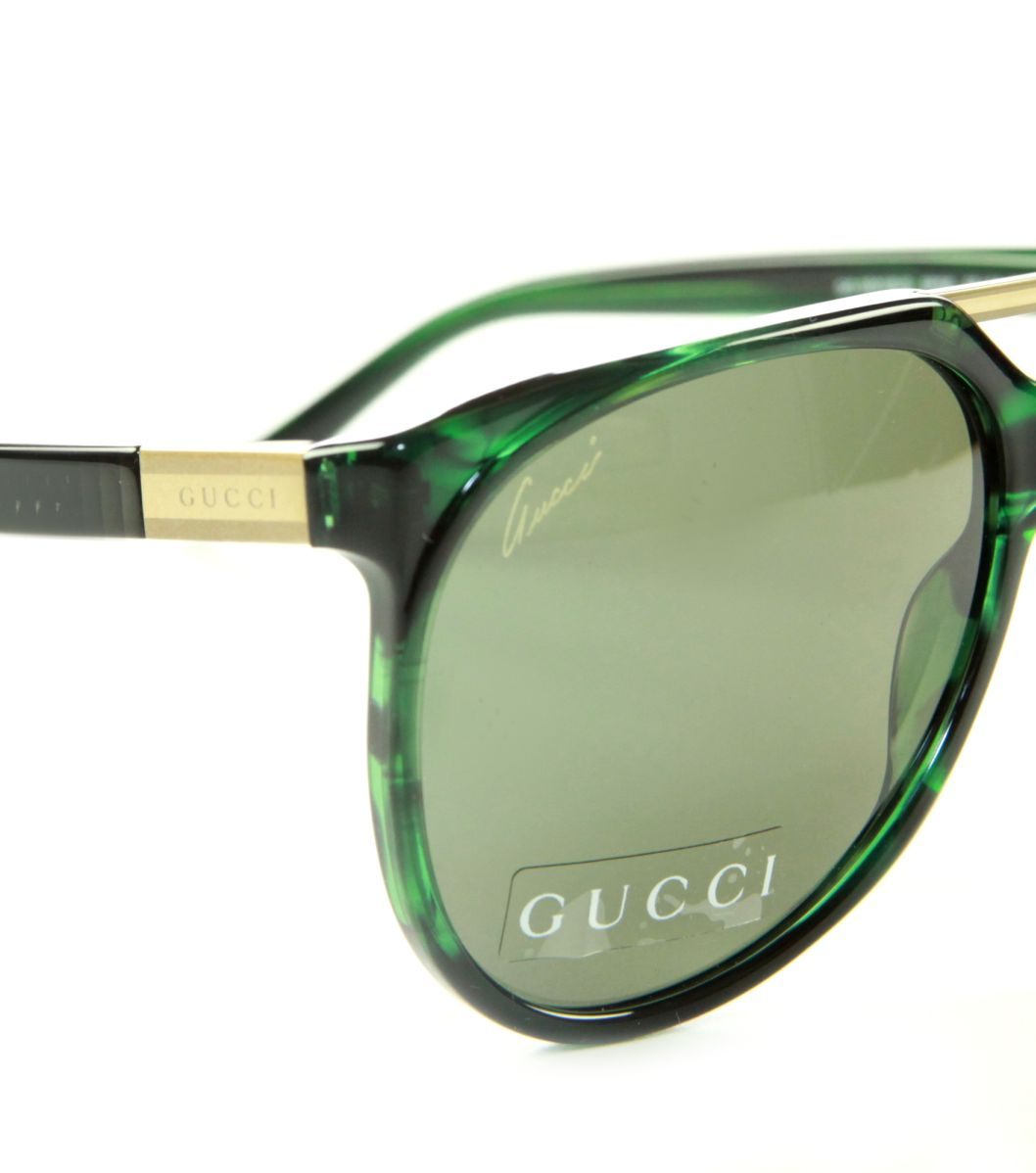 gucci designer lunettes de soleil femme homme la havane vert gg 3501 b s 9p5 ebay. Black Bedroom Furniture Sets. Home Design Ideas