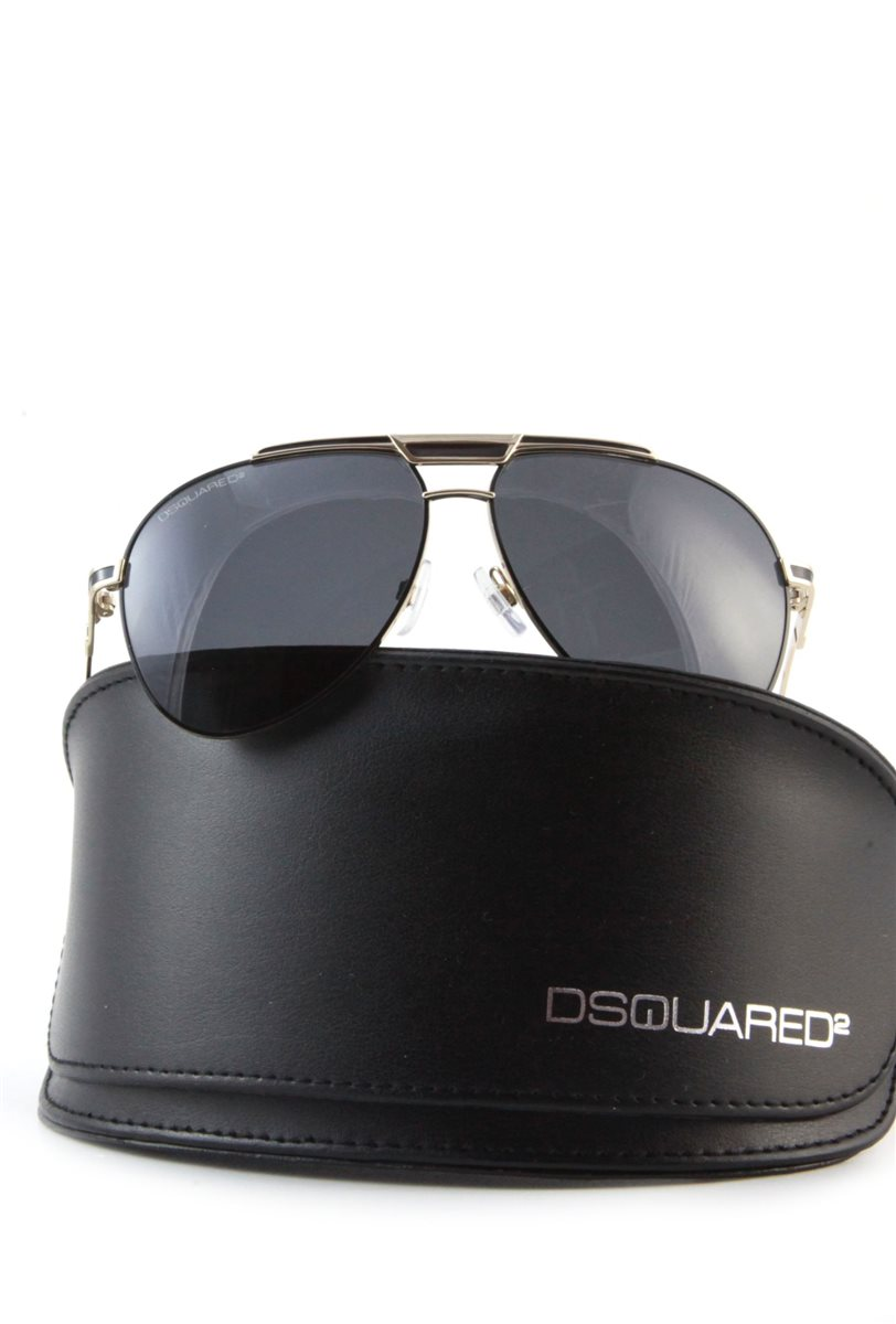 dsquared herren sonnenbrille schwarz gold pilotenbrille tropfenform sunglasses ebay. Black Bedroom Furniture Sets. Home Design Ideas