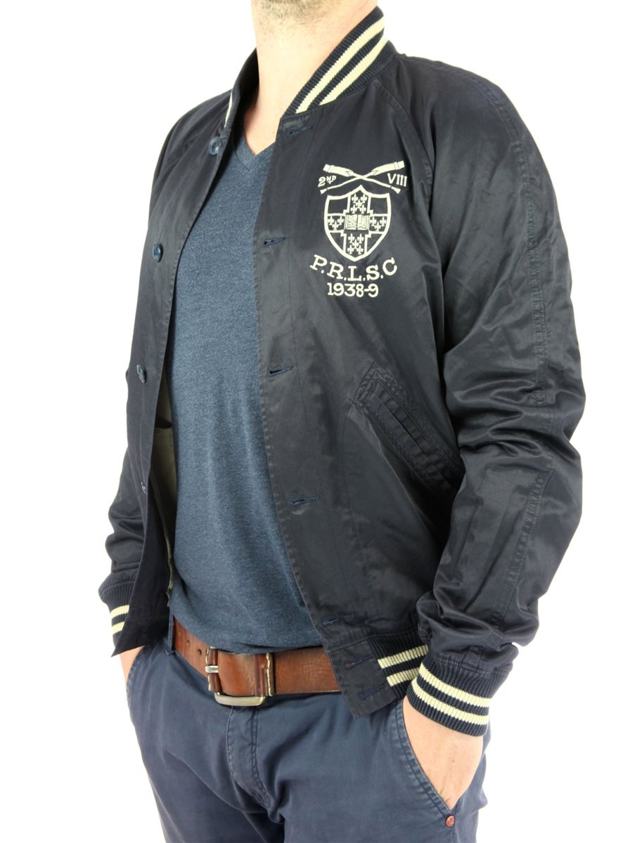 ralph lauren herren bomberjacke charlesworth satin varsity blouson men. Black Bedroom Furniture Sets. Home Design Ideas