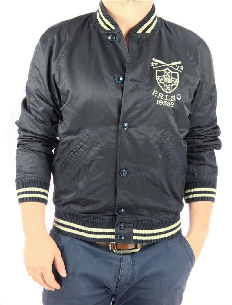 ralph lauren herren bomberjacke charlesworth satin varsity. Black Bedroom Furniture Sets. Home Design Ideas