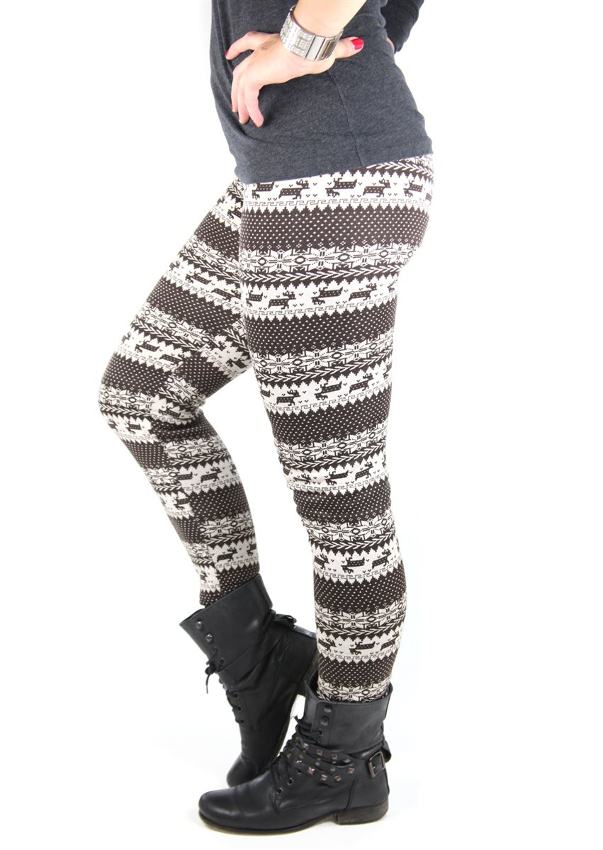 warm lined ladies 39 leggings different colors pattern winter thermo autumn. Black Bedroom Furniture Sets. Home Design Ideas