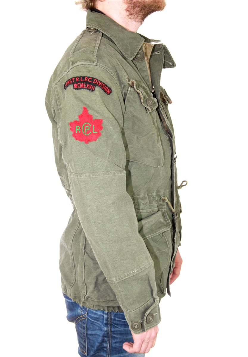 polo ralph lauren herren parka jacke kurzmantel combat jacket army milit r 449 ebay. Black Bedroom Furniture Sets. Home Design Ideas